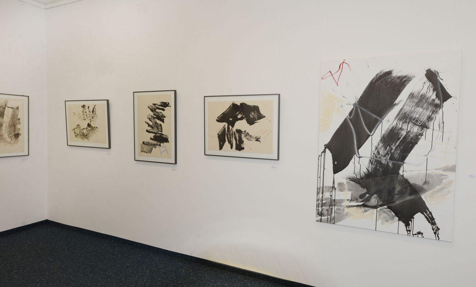 Tuschemalerei auf Buetten + Leinwand